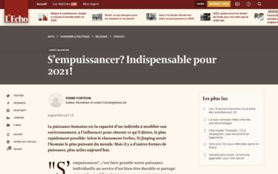 S'empuissancer? Indispensable pour 2021!  – Article publié par le quotidien L'Écho